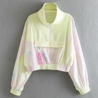 26992 Yellow Tie Dye Zip Up Jacket