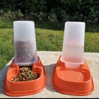 Pet bowl dispenser tempat makan minum anjing kucing