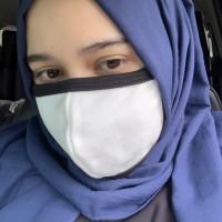 Masker Kain Reusable Earloop + Ikat warna Putih