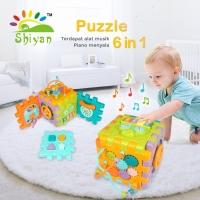 mainan bayi box puzzle dengan musik bentuk ku