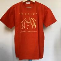 Kaos Vintage Pria Merk Ventilo JOHN LENNON Warna Merah