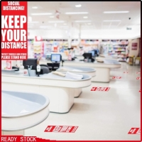 Sticker social distancing untuk kantor/ klinik / rumah sakit