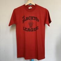 Kaos Vintage Pria Merk Jerzees THE BLACKTOP LEAGUE Warna Merah