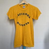 Kaos Vintage Anak Merk Russell Athletic HACIENDA HEIGHTS Kuning
