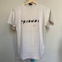 Kaos Vintage Pria FRIENDS Warna Putih