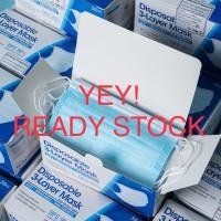 Stock Terbatas Masker 3 Ply Import isi 50 pcs bersertifikat