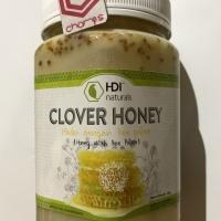 Clover honey HDI naturals madu asli bee pollen 1 kg