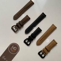 Leather Strap Suede Tali Jam Tangan - Cokelat
