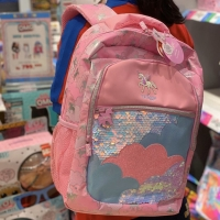 Smiggle Bag Backpack Tas Anak SD Unicorn Blink Black Pink Original