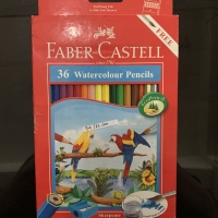 Faber Castell 36 Watercolour Pencils Pensil Air Warna Alat Tulis Anak