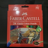 Pensil Warna FABER CASTELL 24 Classic Colour Pencils Alat Tulis Anak
