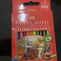 Pensil Warna Pendek FABER CASTELL 12 Classic Colour Pencils Alat Tulis