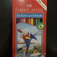 Pensil Warna Air FABER CASTELL 12 Watercolour Pencils Alat Tulis Anak