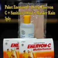 PAKET ENERVON C : 2 strips tablet Enervon C + 1 sanitizer gel 100ml
