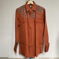 Kemeja Vintage Pria Merk Karman Warna Terracota