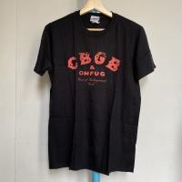 Kaos Vintage Pria Merk Gildan CBGB Warna Hitam