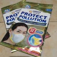 MASKER UNICHARM PROTECT POLUTION 3D 1 PAK ISI 2 PCS