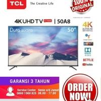 TV LED TCL 50 Inch 50A8 Android Smart TV UHD 4K Garansi 3 Tahun