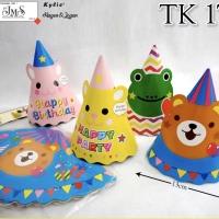 topi kerucut ulang tahun happy birthday ultah bday hbd animal