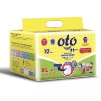 OTO diapers PANTS XL 12 pcs unisex popok celana dewasa NEW ORIGINAL