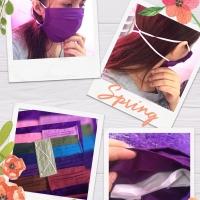 Masker kain hijab tali karet bisa dicuci, harga @ untuk 1lusin