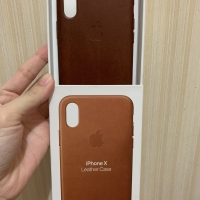 iPhone x/xs leather case