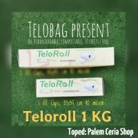 TeloRoll 20x35cm (Kaps 1KG) Kantong Ramah Lingkungan Singkong