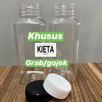 Botol plastik kale 250ml PET kotak untuk kopi susu/jamu