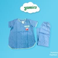 Yumico Baju Tidur Piyama Wanita/Cewek Pajamas Katun PD - Kitten - Hijau Muda