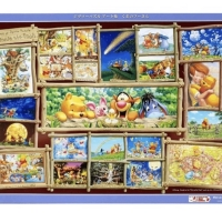 Winnie the pooh art collection jigsaw puzzle 2000pcs