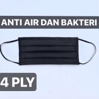 4 ply masker hitam bedah medis anti air dan bakteri like sensi 4 lapis