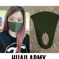 masker scuba polos hijau army 1 pack isi 12 pcs