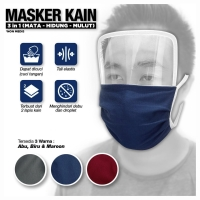 Masker face shield mika 3in1 anti virus corona