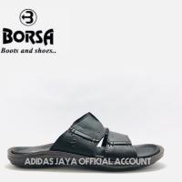 Sandal Borsa M 59119 Hitam Kulit Asli Original Product