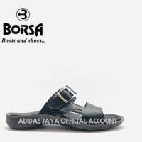 Sandal Borsa M65101 Black Kulit Asli original product