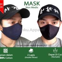 Masker non medis model jepang slim face nyaman