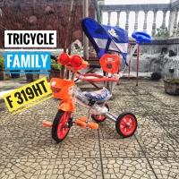 Sepeda anak tiga roda anak tricycle family f319ht