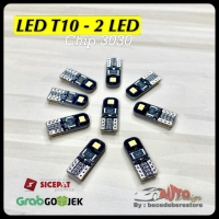 LAMPU LED T10 W5W 3030 chips 2 Mata
