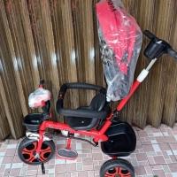 Sepeda Anak Roda Tiga Stroller Exotic Music Tudung Jagaan