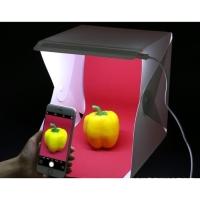 Studio Photo Mini Box Foldong Kotak Pemotretan Foto Dengan Lampu LED