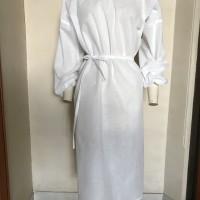 surgerical gown - disposable putih 75gsm