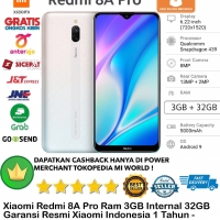Xiaomi Redmi 8A PRO 3GB/32GB 8Apro 8 a 3/32GB 3/32-Garansi-Resmi-White