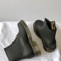 Dr Martens 1460 Black Greasy Leather Shoes