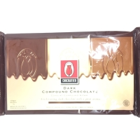 Dark Chocolate Compound Tulip 1kg / Cokelat Batang Tulip Dark 1kg