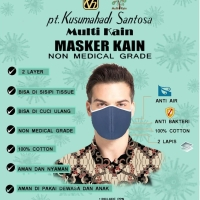 Masker mulut face mask katun anti bakteri water proof harga 1 lusin