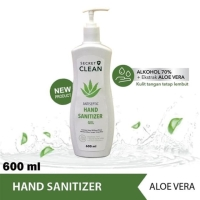 Antiseptic gel hand sanitizer secret clean 600 ml