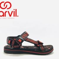 Sendal Gunung Carvil GORDON Black Red Original Product