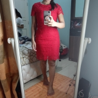 Red Dress Import Size M