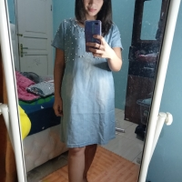 Denim Dress Import Size XL