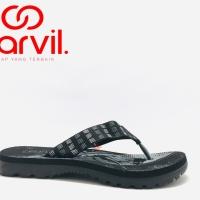 Sandal Jepit Carvil Musashi Black grey Original Product